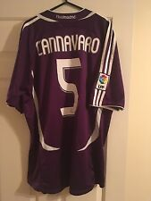 REAL MADRID 2006/07 Football Shirt Third Camicia 3rd KIT ADIDAS 5 CANNAVARO Viola