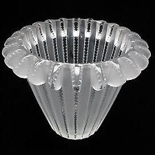 """Lalique Hommage a Rene Lalique, """"Royat""""  Vase Art Deco Excellent"""