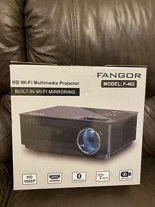 FANGOR F-402 1080P HD Projector with Wi-Fi & Dual Speaker Bundle