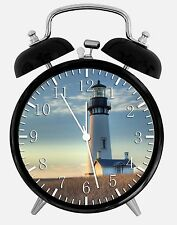 "Light house Alarm Desk Clock 3.75"" Room Decor X29 Nice for Gifts wake up"