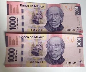2006  BANK NOTE $1000 PESOS  BANCO DE MEXICO SERIE A   PRICE 1
