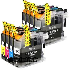 8 pack Ink Cartridge for Brother LC201 LC203xl Mfc J680dw J460dw J480dw J885dw