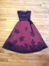 BCBG Max Azria Pink Strapless Dress W/ Mesh Overlay, Size 0