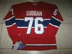 #76 PK SUBBAN Montreal CANADIENS Off. Lic. REEBOK Jersey, Size Women's M, NWT!