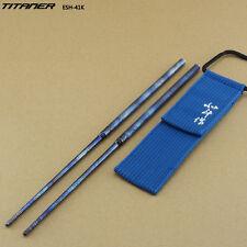 Round Titanium Folding Chopstick Outdoor Camping Picnic Chopstick Travel Cutlery