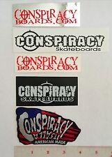 Conspiracy Skateboard Patch & 4 Sticker Set Lindsey Kuhn Zorlac
