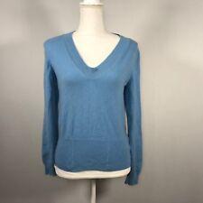 Jil Sander Women Pullover Sweater Size 40 Light Blue 100% Cashmere Top - D116