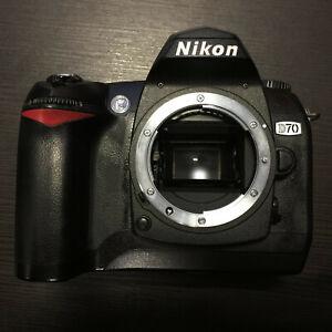 Nikon D70 6.1MP Digital SLR Camera Body Only, Black Low Shutter Count: 9370
