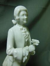 "Augarten Vienna Porcelain ""Mozart w/ Rose"" Figurine Porzellan Wien MINT"