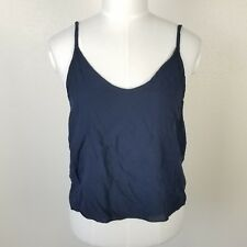 Brandy Melville Navy Blue Sleeveless Crop Top Womens One Size Fits Most JK2