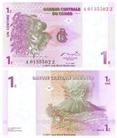 Congo 1 Centime 1997 Replacement P-80r Banknotes UNC