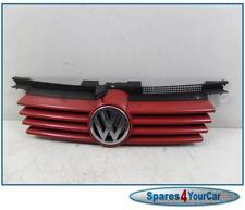 VW Bora & Golf MK4 98-03 Centre Grill & VW Badge Colour Red LY3D -  1J5853655C