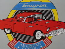 SNAP-ON TOOLS - 1950's T-Bird Sign -Shows FORD THUNDERBIRD Porthole Side Windows