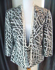 CHANEL BLACK SILVER RUNWAY DRESS TOP JACKET WITH PEARL BELT NEW