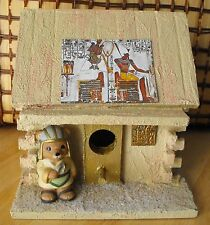 Egypt Pharaoh Log Cabin Bird House