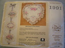 Creative Circle Kit #1991 Love for Keeps Embroidery Wall Hanging