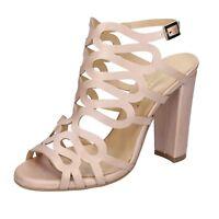scarpe donna SHOEMAKER 36 EU sandali rosa pelle BS66-36 4aed0ffe57a