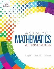 A Survey of Mathematics with Applications by Dennis C. Runde, Christine D....