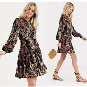 Free People Heartbeats Mini Jersey Dress Size UK S 8 - 10 EU 36 RRP £95.00