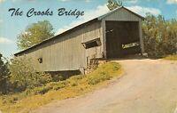 Rockville, IN Parke County Crooks Covered Bridge Little Raccoon Creek Postcard
