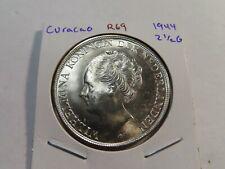 R69 Netherlands Antilles Curacao 1944 2 1/2 Gulden BU