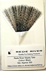 Fine Mayfly Tail Fibres - Approx 300 Per Pack - 3 Colours by Rede River
