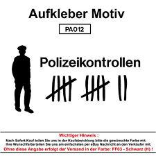 Polizeikontrolle Autoaufkleber Aufkleber Fun Spaß Sticker Tuning Lustige Sprüche