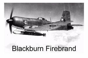 Blackburn Firebrand UK Aircraft WW2 Metal Aluminium Sign Plaque 5 Sizes