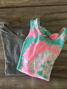 Lot Of 2 So Girls Tops Gray And Tie Dye Size 7/8