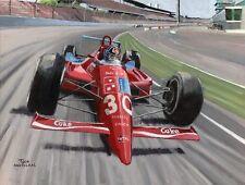 Painting Lola-Chevrolet Indy 500 1990 winnaar Arie Luyendijk by Toon Nagtegaal