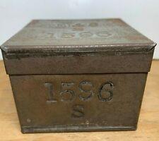 Antique Numbered Tea Tin Box
