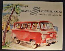 1958 Thames 800 English Ford Estate Car & Express Bus Catalog Brochure Original