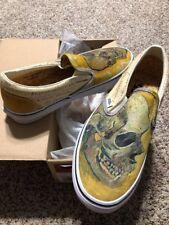 Vans x Van Gogh Skull Classic Slip On Men's US size 7.5 Women's US size 9