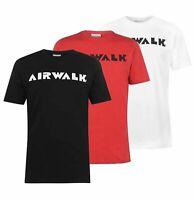 Mens Airwalk Short Sleeves Skate Top Logo Crew Neck T Shirt Sizes from S to XXXL