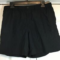 Columbia Women's Packable Backpacking Hiking Camping Nylon Black Shorts Large