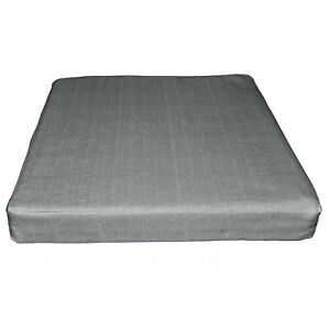 Qh12t Grey Thick Cotton Blend 3D Box Sofa Seat Cushion Cover Custom Size