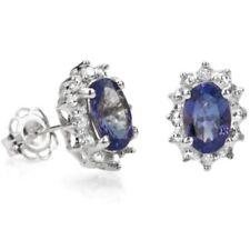 Ohrringe/Ohrstecker Joline, 925er Silber, 0,8 Kt. echter Tansanit/Diamant