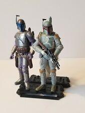 Star Wars 3.75 Boba Fett and Jango Fett Lot As Is
