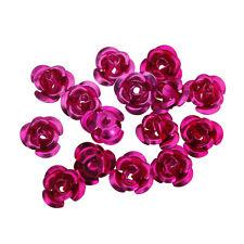 100pcs Lots Rose Flower Aluminum Spacer Beads Jewelry Making 6mm DIY Bracelet