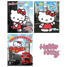 Hello Kitty Poster Collection Bundle London Paris NYC Decor Wall Art Maxi Girls