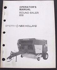 Original New Holland 858 Round Baler Operators Manual Before Serial #706837