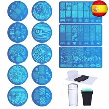 Biutee Set de Stamping Nail Art 13 Pcs Placas Estampacion Uñas +2 Pcs  (737)