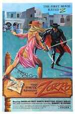 Erotic Adventures Of Zorro Poster 01 Metal Sign A4 12x8 Aluminium