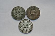 TRIO 1/2 FRANCS  1881  / 1882  / 1907