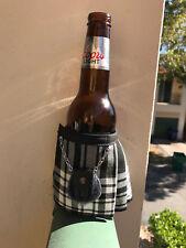 Menzies Tartan Plaid Beer Bottle Koozie Mini Kilt  Christams Gift
