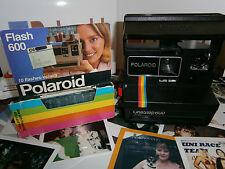 RARO N E W testato Retrò Divertente OGGI Polaroid virus 600 Arcobaleno con FlashCubes