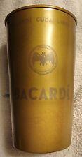 Bacardi Rum - Stainless Steel? Cuba Libre Drink Glass - Bat Logo - Shiny...NEW