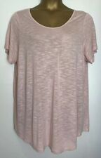 Evans Pale Pink Stretch Jersey Tunic Top Size 22/24 New
