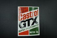 "Vintage Castrol GTX Motor Oil Decal Sticker Original  / Almost 4"""