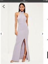 Missguided Grey Choker Neck Maxi Dress. Size 6. Brand New